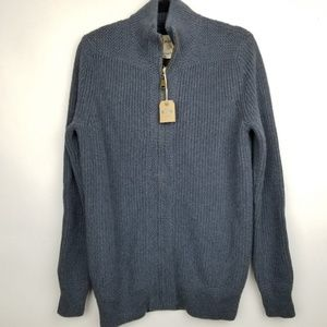 NEW Fossil S blue Isaac cotton wool sweater